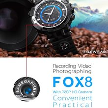 2017 Sport Camera Wifi watch Mini P2P WiFi IP Camera Pocket Mini DVR WIFI Watch Built 8G Bicycle Video Recorder wifi Watch(China)