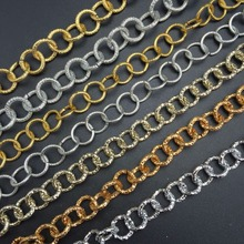 DIY jewelry accessories production Gold silver rose Light necklace making Round Retro-style chain 100cm