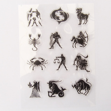 vintage zodiac twelve constellations silicone clear stamp for scrapbooking DIY craft decoration soft stamp kids stationery(China)