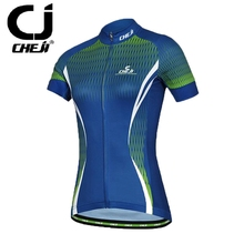 Cheji Women Lady Cycling Team Clothing Bike Bicycle T-shirt / Top Ciclismo Maillot Clothes Jersey Blue