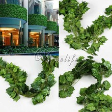 2.3m 12Pcs Artificial Plants Sleaf Rohdea Grape Vine Fake Foliage For Wedding Party Garden Plants Indoor /outdoor Home Decor(China)