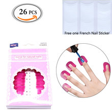 Pro 26 Pcs 10 sizes Curve Shape Spill-proof Finger Cover Sticker Nail Polish Varnish Reusable Holder + Free 1pcs French Sticker