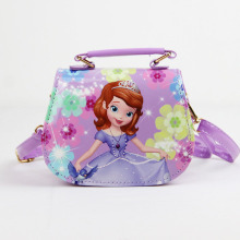 QZH 2017 The new fashion children's cartoon princess inclined shoulder bag mini cute girl handbag messenger bag(China)