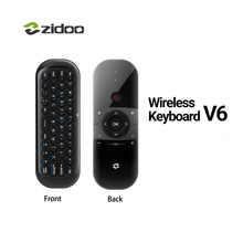ZIDOO V6 2.4GHz Handle Air Mouse Wireless Keyboard with IR Remote for All ZIDOO TV BOX For Zidoo X9S X10 X8 X7 H6 PRO(China)