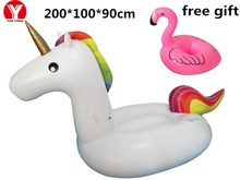 Unicorn Inflatable Ring Inflatable Pool Float Unicorn Inflatable Unicorn Float Party Fun Float Giant Women Swim Ring Water Toys(China)