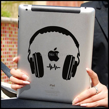 Headphone Vinyl laptop Decal Sticker for Apple For iPad 1/2/3/4/Air/mini/Pro Tablet PC Case Cover DIY Personality Skin sticker