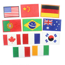 Cheap Mixed Nation Flag Patch Embroidered Paches For Clothing Applique Sew On DIY Accessory Clothes 11Colors Available
