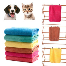 ISHOWTIENDA Pet Dog Cat Soft Quick Dry Shower Towels Bath Towel Cleaning Necessary Fast Drying for Dog Bathing Grooming(China)