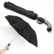Creative Automatic opening Imitation gun modeling PG umbrella anti-splashing water shade anti-UV gun handle umbrella Party Favor