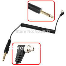 6.35mm to Male FLASH PC Sync Cable Cord with Screw Lock for yongnuo flash for canon nikon