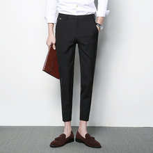 2017 han edition British wind up to date  Men Pants - New Arrival Men's Casual Pants Harem Pants Feet Nine Points Casual pants