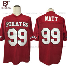 Cheap New American Football Jersey J.J. Watt 99 Pewaukee Pirates High School Football Jersey Throwback Stitch Sewn Mens Shirts