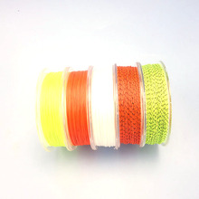 Shared With Fish Backing Line 20LB/30LB 50 meters Braided Dacron Fly Fishing Backing Line Yellow Orange Black 2 loop connectors