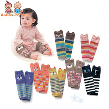 10pairs/lot Cartoon Air Conditioning Baby Leg Warmers Baby Boys Girls Toddler Knee-length Striped Leg Warmer(China)