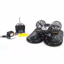 Multifunctional RC Hovercraft Air Powered Boat, Black(China)