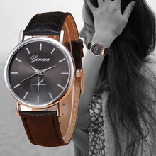 Retro Design Stainless Steel Dial Women Watches Mens Leather Business Wrist Watch Clock Lady GENEVA Analog Quartz Watch Reloj #N