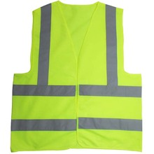 Green orange Safety Vest with Reflective Strips ANSI/ISEA Medium(China)