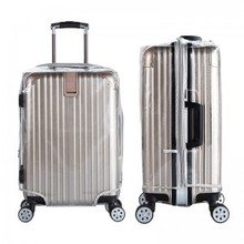 20 inch to 30 inch Suitcase 0.6mm thicker waterproof PVC transparent dust cover with zipper opening luggage protection bag