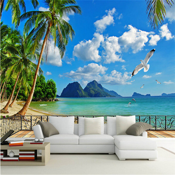 Custom photo wallpaper 3D stereo wallpaper mural living room TV background wallpaper natural scenery<br>