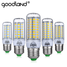 Goodland LED Lamp E14 E27 220V 240V LED Bulb Corn Light No Flicker Smart  IC 24 36 48 56 69 LEDs SMD 5730 Chandelier Lighting