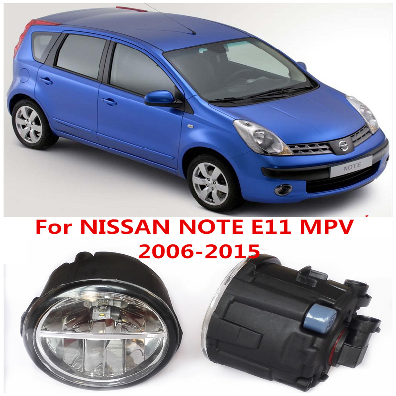 6000K  10W White High Brightness For NISSAN NOTE E11 MPV 2006-2015 Car Styling Front Bumper LED Fog Lights Lamps DRL 2 PCS<br><br>Aliexpress