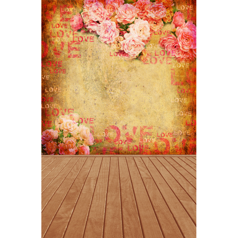 Vinyl Backdrops Customized Computer Printed photography background valentine for photo studio floral backdrop 5x7ft  F-1607<br><br>Aliexpress