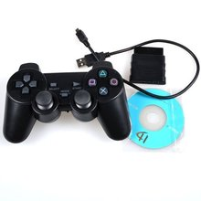 3 in 1 2.4G Wireless DuoShock Game Controller For PS3/PS2/PC joystick joypad