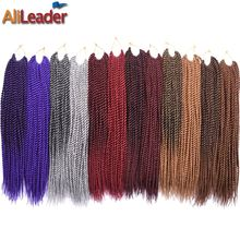 "AliLeader Products Kanekalon Crochet Twist Hair 18"" T27/30/530 Burgundy Gray Purple Ombre Crochet Braids Senegalese Twist Hair(China)"