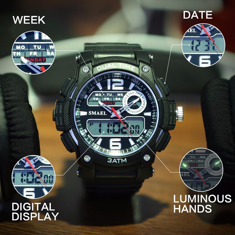 Digital Analog Watch S-Shock Men Women LED Electronic Day 50m waterproof Dive Army G Type Sport watch Relogio Masculino Feminino<br><br>Aliexpress