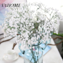 Cheap Plastic Baby Breath Artificial Flowers 243 Heads Real Touch For Wedding Car Arrangement Home Decoration Fake Flores Bushes