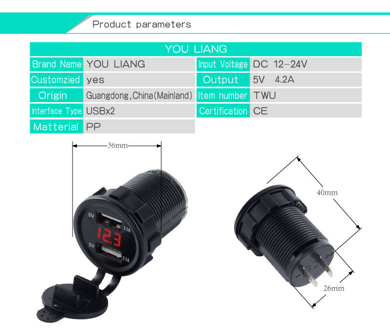 usb car charger with voltage 11