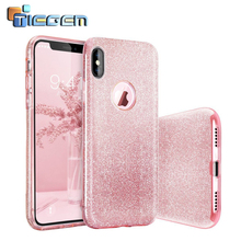 TIEGEM Phone Case for iPhone X 10 2017 5.8 inch Bling Glitter Gradient Case TPU Slim Gel Silicone Protective Bumper Cases Coque(China)