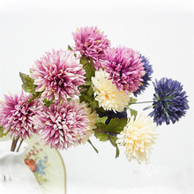 3 Buds Fake Artificial Chrysanthemum European Silk Flowers para decora o for Wedding Home Party Decoration DIY cheap flower(China)