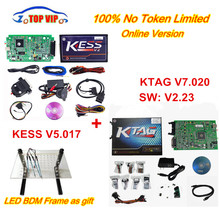 Newest KTAG 7.020 100% No Token Limited Kess 5.017 + KTAG V7.020 Chip Tuning Kit KTAG 7.020 Master V2.23 E+LED BDM Frame Kess V2