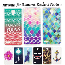 "ARYIKUM Android Phone Case For Xiaomi Redmi Note 1 Pro 4gb 5.5"" Pink Flower Silicone Cover For Xaomi Xiomi Redmi Note etui(China)"