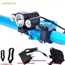 Walkfire Bicycle Front Light Cycling Waterproof Headlights Led Lamp Bike Bicicleta Bike Accessories + 8.4V Battery Pack +Charger