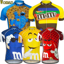 2017 NEW Women's cycling jersey wholesale cycling clothing short sleeve cartoon bike wear cycling clothes Arbitrary choice(China)
