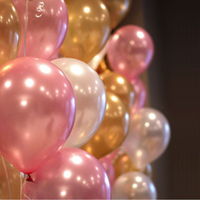 Pearl balloons 20pc 10 Inch Thick 2.2 g Birthday Ballons Decorations Wedding Ballons Pink White Purple Globos Party Wholesale(China)