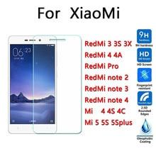 Top quality 9H 0.26mm Screen Protection film Tempered Glass xiaomi mi4 4I 4C mi5 5s plus redmi 3 3s 3x note2 note3 note4 4A