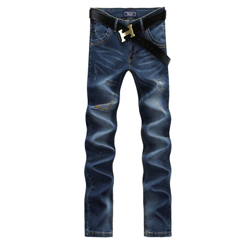 Free shipping 2017 new style mens casual fashion jeans men high quality trousers embroidery  Pure cotton jeans size 28-38Îäåæäà è àêñåññóàðû<br><br>