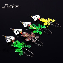 Fulljion Fishing Lures Frogs Rubber Soft Bass SpinnerBait Spoon Lures Carp CrankBait Fishing Tackle Pesca Isca Baits 8cm 6.2g