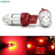 2pcs T20 7443 W21/5W 7440 W21W 30SMD 2835 LED Red Car Taillight Bulb Tail Brake Lights Lamps rear light car-styling
