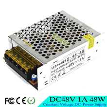 New model DC48V 1A 48W Switching Power Supply Drive lighting Transformers 100-240V AC DC 48V SMPS For CNC CCTV Machine Motor
