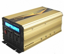 off grid LCD display 1500w DC12V/24V to AC 220v peak power 3000w pure sine wave inverter with ups charging function(China)