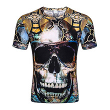 New Fashion Brand T-shirt Hip Hop 3d Print Skulls Harajuku Animation 3d T shirt Summer Cool Tees Tops Brand Clothing