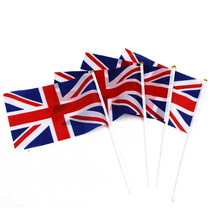 50pcs Union Jack Hand Waving Flag Royal Jubilee UK GB Great Britain The United Kingdom Street Party DecorationFlags(China)