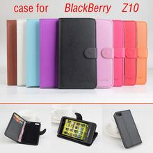 9 colors Classic Leather case For BlackBerry Z10 Z 10 Flip Cover case housing With Card Slot London Surfboard Phone Cover Cases