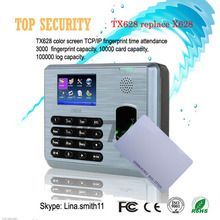 Linux system TX628/ID 3200 users fingerprint and 125KHZ RFID card reader time attendance