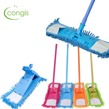 Congis 1Pc 4 Colors Telescopic Rotate Removable Dust Mop Home Kitchen Wood Flooring Windows Cleaning Tools(China)