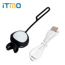 USB Rechargeable For Cell Phone Camera LED Flash Fill Light Mini Selfie Light for iPhone IOS Android 360 Degrees Silicone Clip(China)